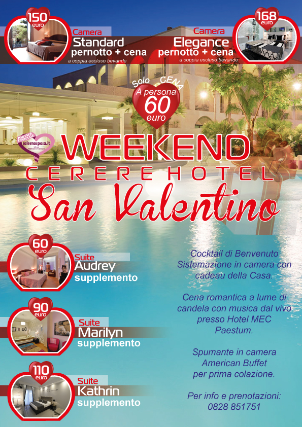 Offerte e Coupon per Weekend a San Valentino a Salerno  - Hotel Cerere -
