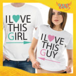 "T-Shirt Coppia ""I Love This Girl"""