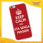 "Cover Smartphone ""Keep Kalm and sta senza pensier Bianco e Rosso"""